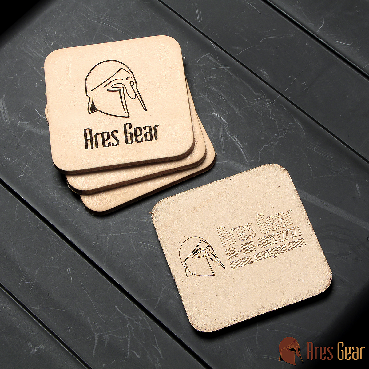 Coasters, Leather